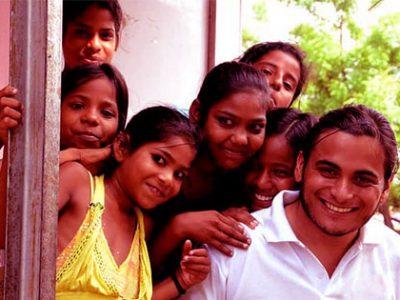 Excited children smiling together.